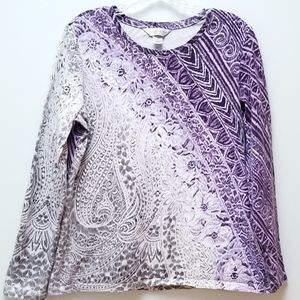 CHRISTOPHER & BANKS | SHADES OF PURPLE TOP, SZ M